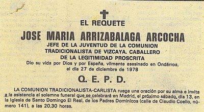 Uno de los nuestros: José Mari Arrizabalaga Arcocha