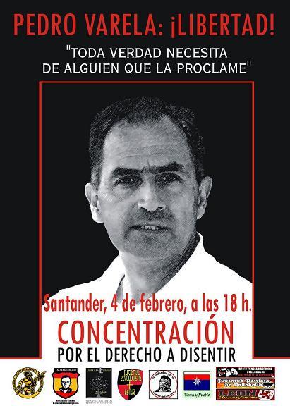 Santander 4 de febrero: ¡¡Libertad Pedro Varela !!