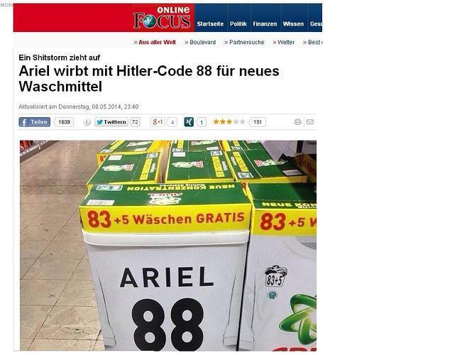 Una de idiotas: Ariel retira un detergente ... ya que hacia 88 lavabos