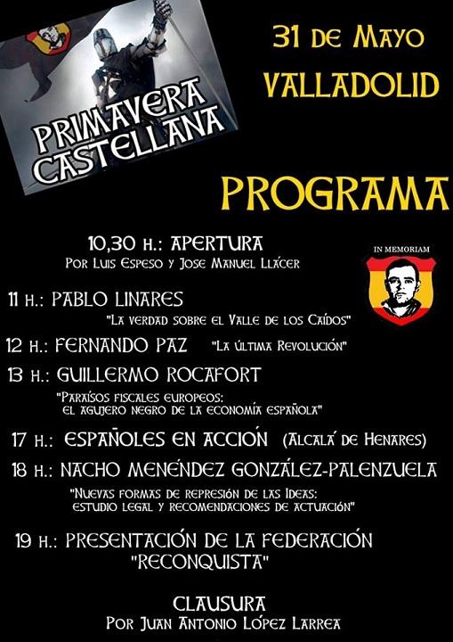 Cita obligada: Valladolid 30 y 31 mayo