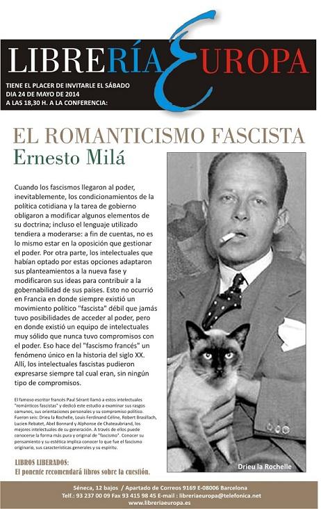 Conferencia: El romanticismo fascista